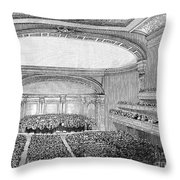 Nyc: Carnegie Hall, 1891 Throw Pillow