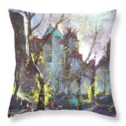 Nyc Central Park Controluce Throw Pillow by Ylli Haruni
