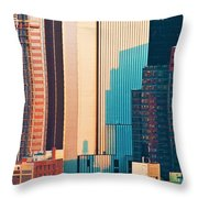 Nyc Colors And Lines II Throw Pillow