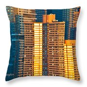 Nyc Colors And Lines IIi Throw Pillow