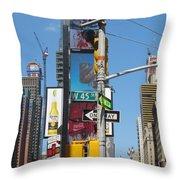 Nyc Directions Throw Pillow by Randi Shenkman