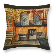 Nyc Graffiti Throw Pillow