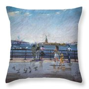 Nyc Grand Ferry Park 2 Throw Pillow