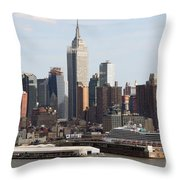 Nyc In The Afternoon Throw Pillow