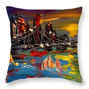 Nyc Night Throw Pillow