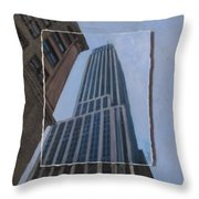Nyc Severe Empire Layered Throw Pillow