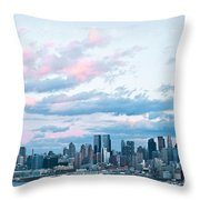 Nyc Sundown Blue II Throw Pillow