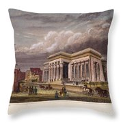 Nyc: The Tombs, 1850 Throw Pillow