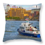 Nypd In The Water Throw Pillow