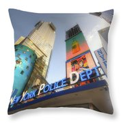 Nypd Station Throw Pillow by Yhun Suarez