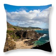 Oahu Coastal Getaway Throw Pillow