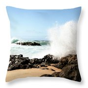 Oahu North Shore Breaker Throw Pillow