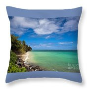 Oahu Solace Throw Pillow