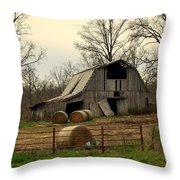 Oak Barn Throw Pillow