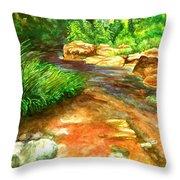Oak Creek Red Throw Pillow