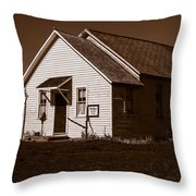 Oaks School 1870 Throw Pillow