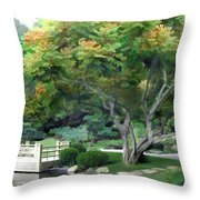 Oasis In A Sea Of Green Throw Pillow