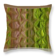 Oasis In The Desert - Abstract Art Throw Pillow