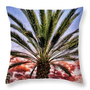 Oasis Palms Throw Pillow
