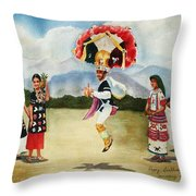 Oaxaca Dancers Throw Pillow