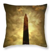 Obelisk. Illustration Throw Pillow by Bernard Jaubert
