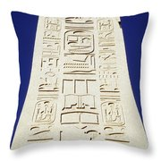 Obelisk Of Tuthmosis IIi And Blue Sky Throw Pillow