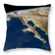Oblique View Of Baja California Throw Pillow