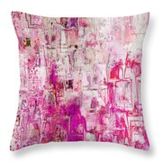 Oblong Abstract I Throw Pillow