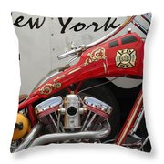 Occ Fdny Motorcycle Throw Pillow