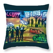 Occupiers Unite Throw Pillow