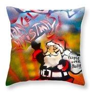 Occupy Christmas Throw Pillow