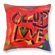 Occupy Crush Love Throw Pillow