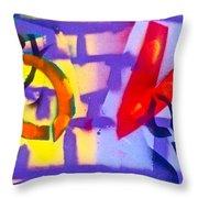 Occupy Graffiti Love Throw Pillow