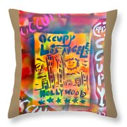 Occupy Hollywood Throw Pillow