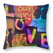 Occupy Love Open Heart Throw Pillow