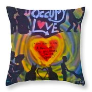 Occupy The Heart Throw Pillow