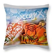 Occupy X-mas Throw Pillow