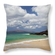 Ocean And Sky Of Makena Beach Throw Pillow