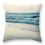 Ocean At Sunset Throw Pillow by Kim Fearheiley