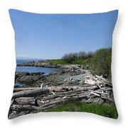 Ocean Beach Vancouver Island Throw Pillow