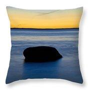 Ocean Boulder Throw Pillow