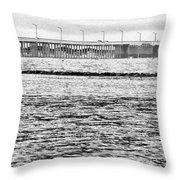 Ocean City Bridge Throw Pillow