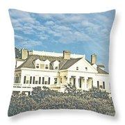 Ocean Drive Mansion Ri Throw Pillow