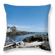Ocean Front Living Throw Pillow