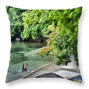Ocean Getaway Throw Pillow