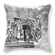 Ocean Grove Ferry, 1878 Throw Pillow