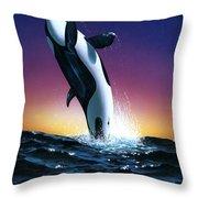 Ocean Leap Throw Pillow