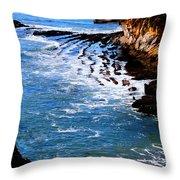 Ocean Lines Throw Pillow