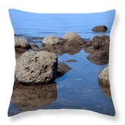 Ocean Rocks Throw Pillow