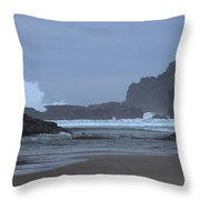 Ocean Splash Throw Pillow